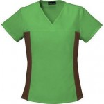 Cherokee Flexibles V-Neck Knit Panel Top