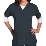 Cherokee V-Neck Scrub Top with Logo