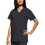 Cherokee Women's Mock Wrap Scrub Top with Logo