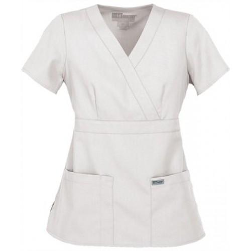 Grey\'s Anatomy 3-Pocket Mock Wrap Scrub Top